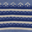Closeup of blue knitted pattern from winter sweater — Stock Photo