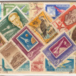 Retro stamps — Stock Photo