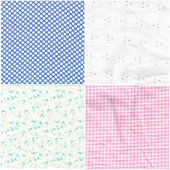 Seamless patterns with fabric texture — Stock Photo