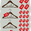 Hanger with sale percents — Stock Vector
