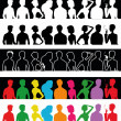 Stock Vector: Silhouettes