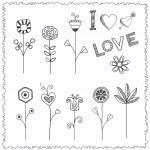 Doodle flower set — Stock Vector #33882785