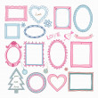 Stock Vector: Set of doodle frames and other elements