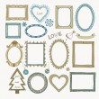 Set of doodle on a vintage background. — Stock Vector