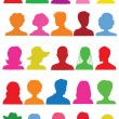 25 Anonymous colorful mugshots — Imagen vectorial