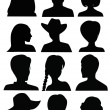 Anonymous Mugshots — Stock Vector