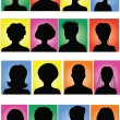 Stock Vector: Anonymous colorful mugshots