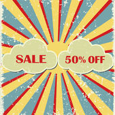 Retro grunge advertisement for summer sale — Vetorial Stock