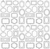 Seamless doodle frame set — Stock Vector