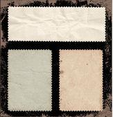 Set of old stamps, back side. — Stock Vector