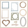 3d frames — Vector de stock #36164507