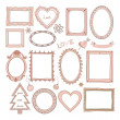Set of doodle frames and other elements — Stock Vector