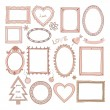 Set of doodle frames and other elements — Stock Vector #36164625