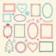 Set of doodle frames and other elements — Stock Vector #36164629