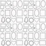 Seamless doodle frame set — Stock Vector