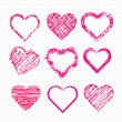Set of grunge hearts — Stock Vector #36164693