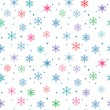 Stock Vector: Seamless snowflake pattern