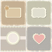 Set of vintage cards. — Stock Vector