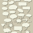 Set of speech bubbles — Stock Vector