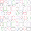 Set of doodle frames and other elements — Stock Vector #41589101