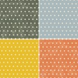 Set of seamless dot patterns — Vettoriale Stock