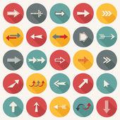 Set flat arrows — 图库矢量图片