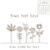 Flowers and ABC set — Stock vektor