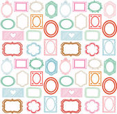 Retro frame set — Stock Vector