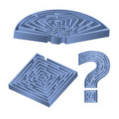 Set of 3D labyrinths — Vecteur