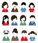 Люди иконки — Cтоковый вектор