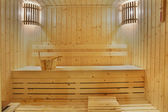 Wooden sauna room — Stock Photo
