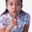 Stock Photo: Thai girl shows sign