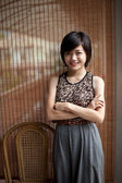 Asian girl with a beautiful haircut — Stock Photo