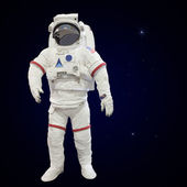 Astronauts with atmosphere background — Stock Photo