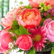 Stock Photo: Flowers bouquet arrange for decoration in home