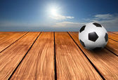Soccer football background — Stock Photo