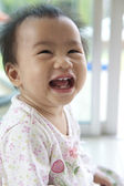 Dirty Face of asian baby 10 month aged — Stock Photo