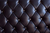 Luxury texture of leather furniture decorated with crystal — Stock Photo