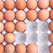Stock Photo: Eggs in paper packaging