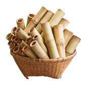 Bamboo basket — Stock Photo