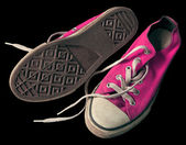 Old pink shoes — Stock Photo