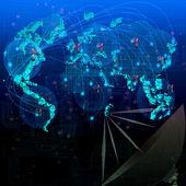 World satelite telecommunication — Stock Photo