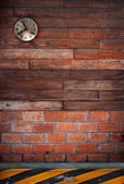 Eary eight o clock hanging on wood wall — Stock Photo