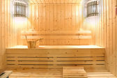 Wooden sauna room — Stock Photo