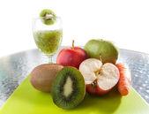 Frutta e smoothy — Foto Stock