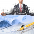 Industry construction and business man — Stock Photo #24574221