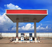 Gas lpg station with beautiful blue sky background — Stock Photo