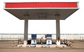 Gas lpg liquid petroleum gas station isolated white — Stock Photo