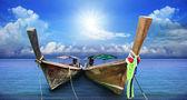 Andaman long tailed boat southern of thailand — Stock Photo