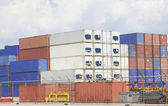 Freight shipping containers — Stock Photo